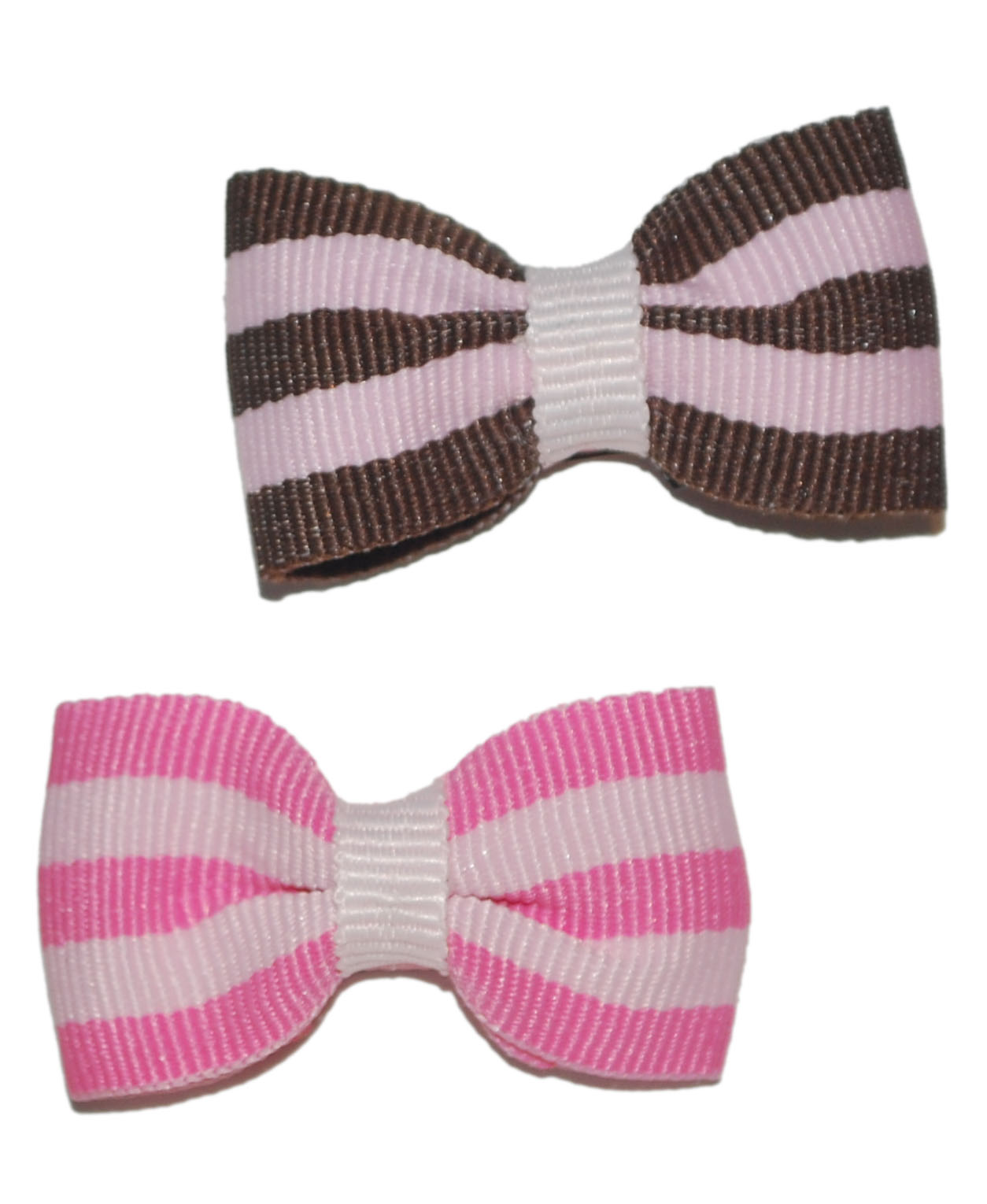 Small snap bows striped