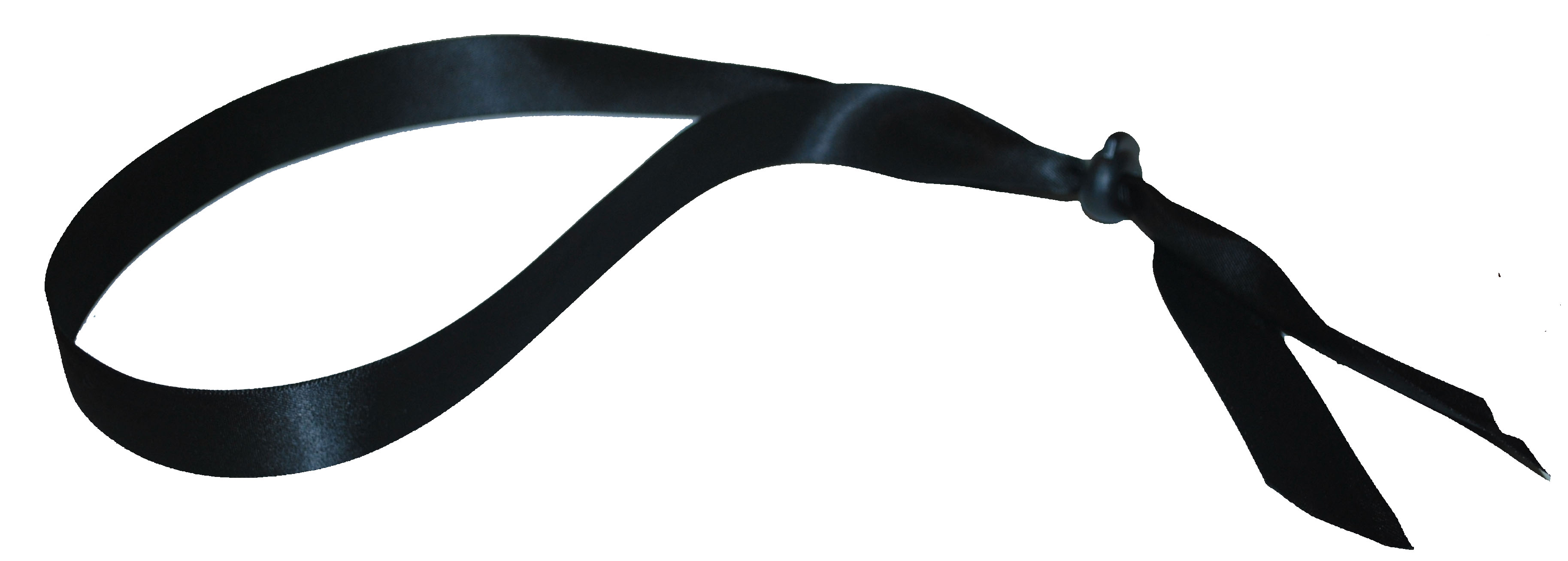 Adjustable Ribbon Headband – Dbl Faced Black Satin  6b41449e81c